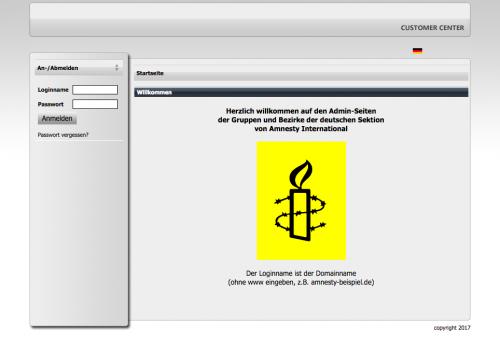 Ansicht-Webspace-Verwaltung