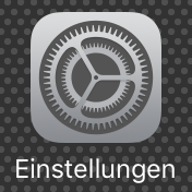 Einstellungen am iPhone oder iPad öffnen.